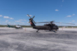 A109SP LifeFlight of Maine helicopter parked next to a Blackhawk on the ramp in Chattanooga TN