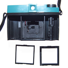Frame masks to insert into Diana camera for size of photo on medium format 120 roll film