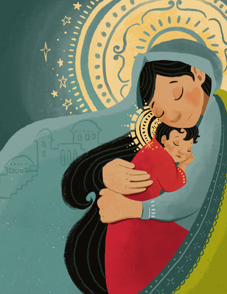 Mama Mary and Baby Jesus