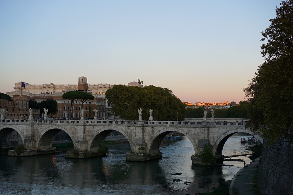 Ponte Sant'Angelo from Ponte Vittorio Emanuele II