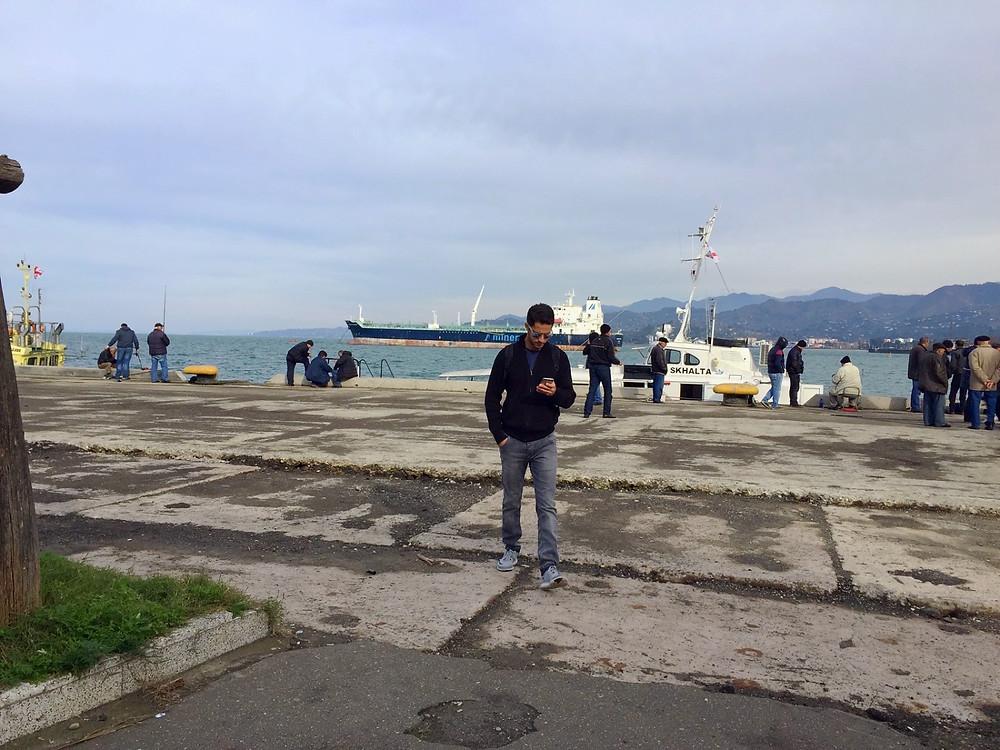 me at batumi port