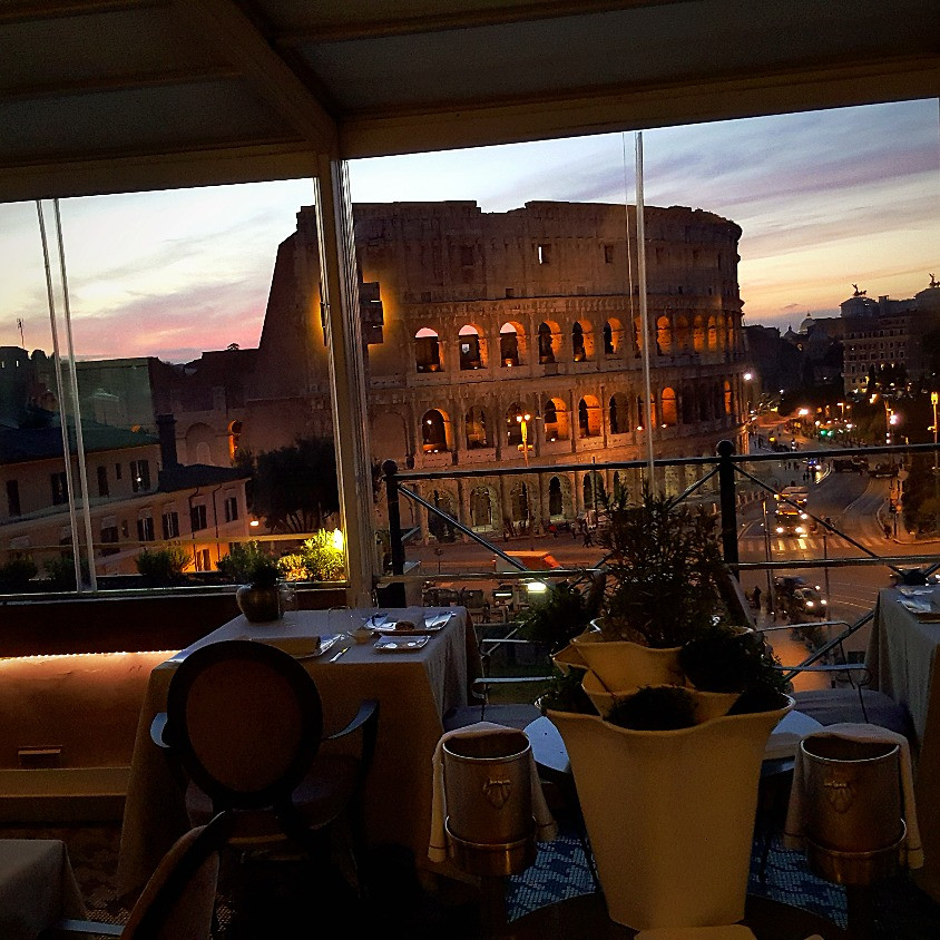 Aroma restuarant - best view in Rome