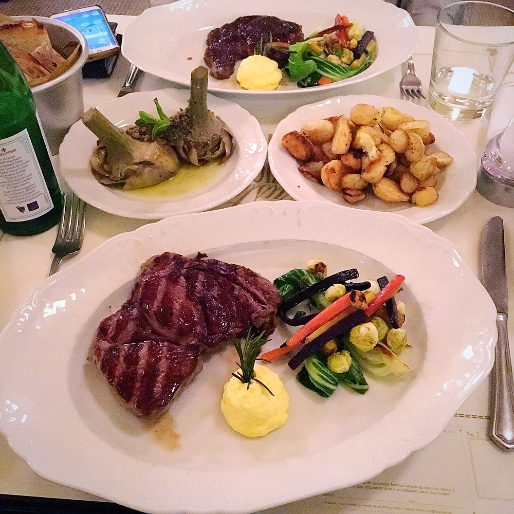 Dinner at Baccano - Steaks