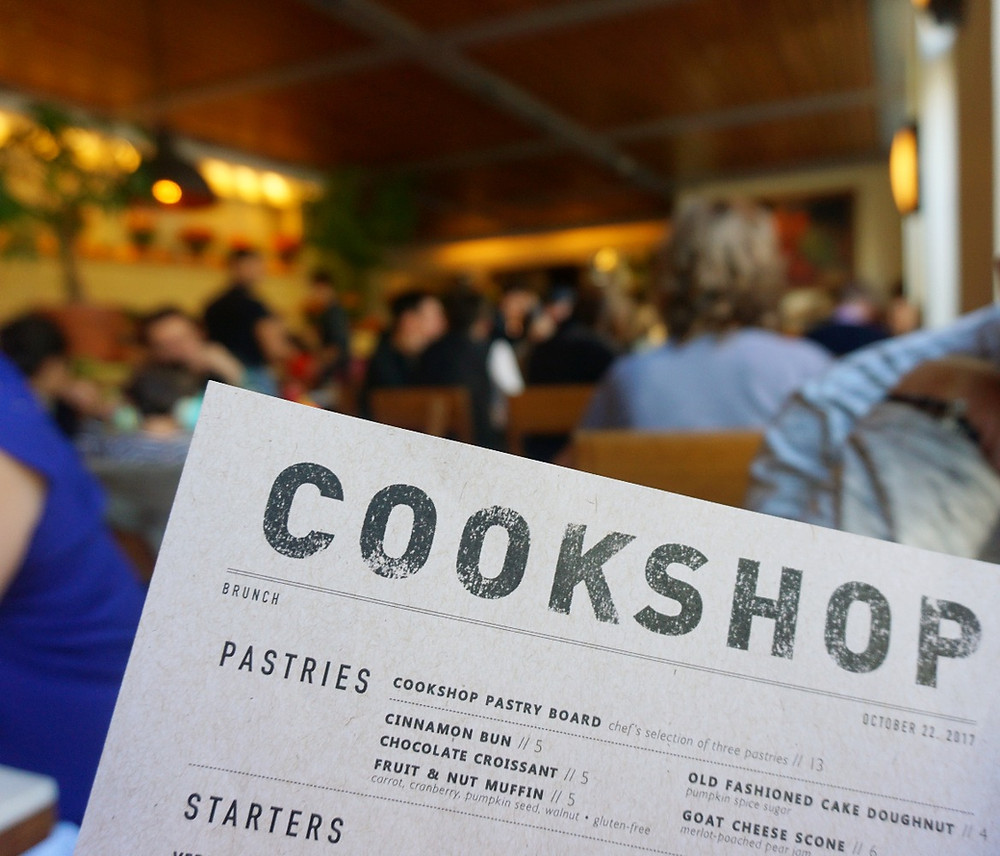 Cookshop NYC - brunch menu