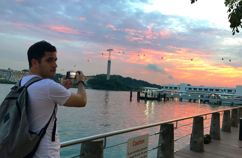 Sunset at sentosa