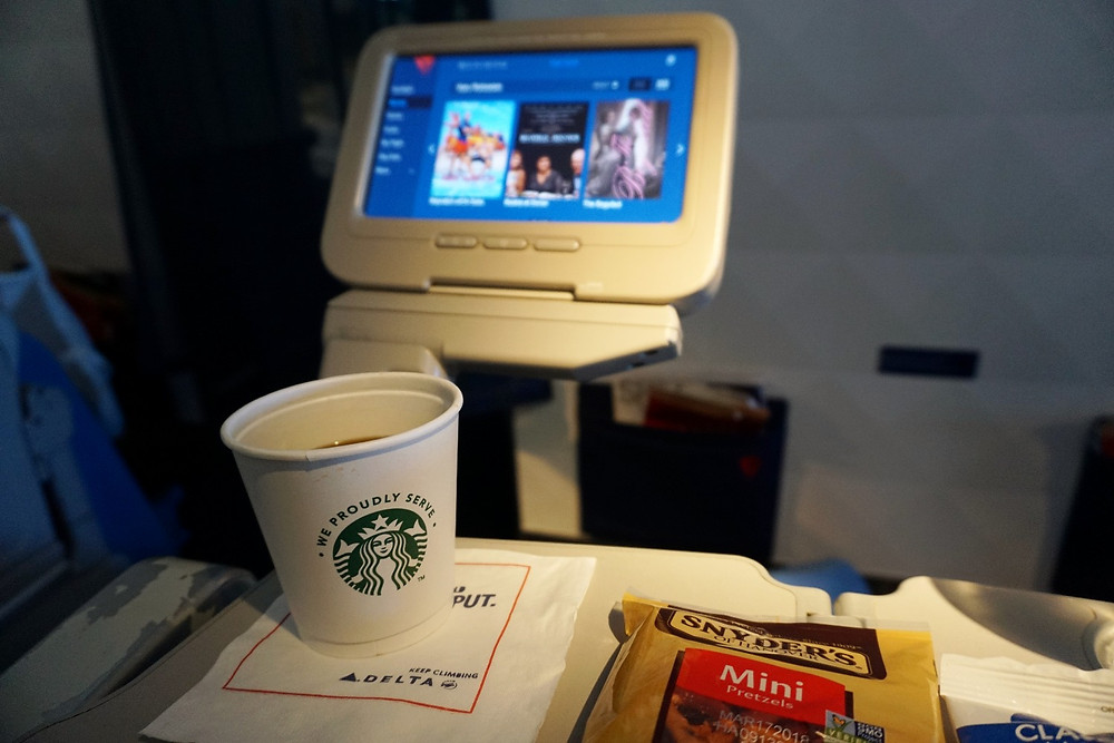 Delta comfort seat screen and coffee