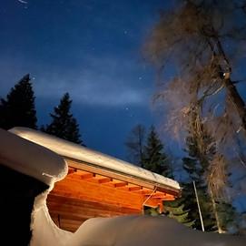 Winternacht bei der Forscherhütte