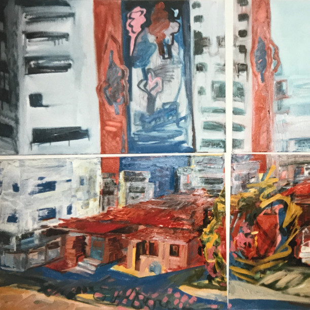 My studio oil on 4 canvases