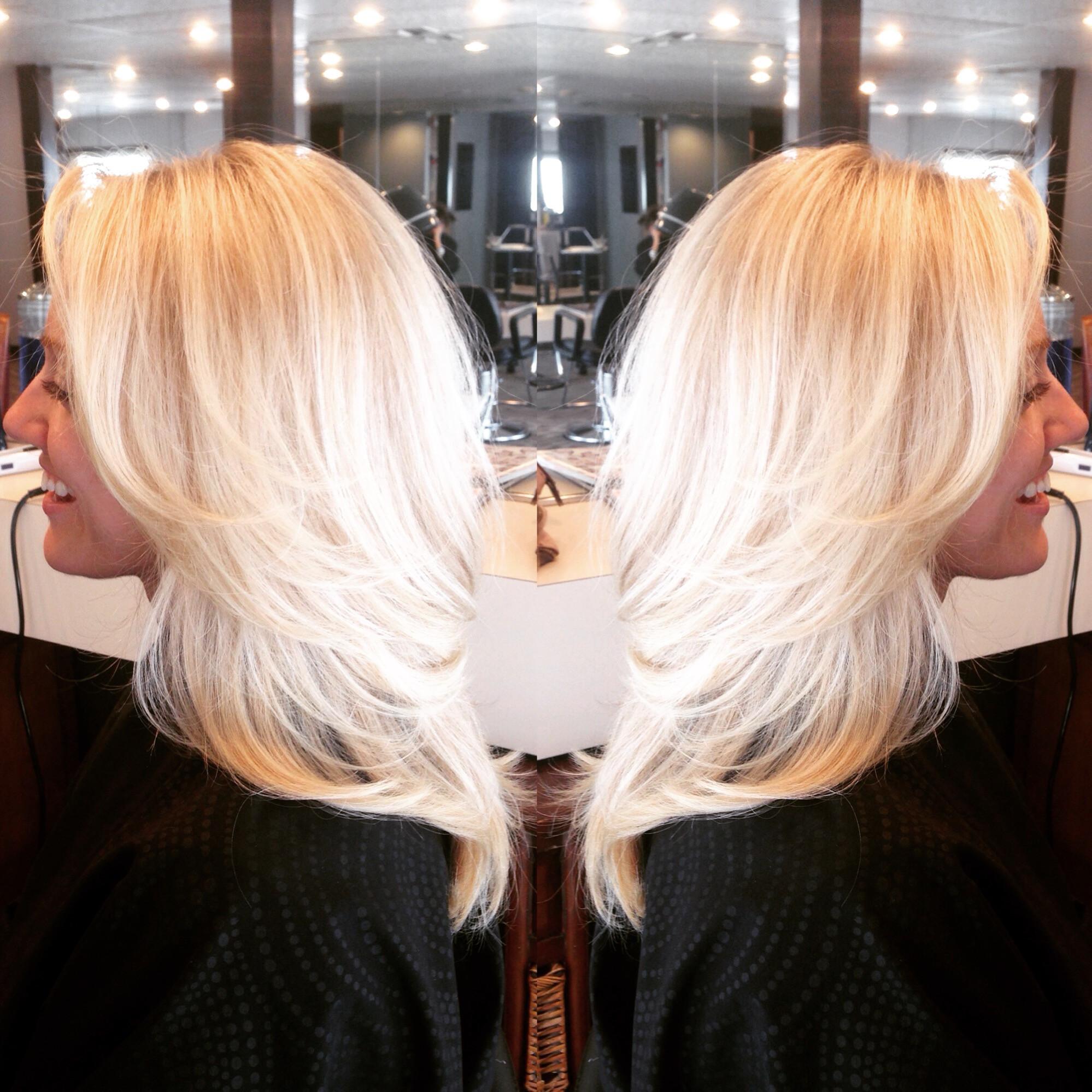 Double-process haircolor
