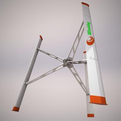 Standalone vertical-axis wind turbine