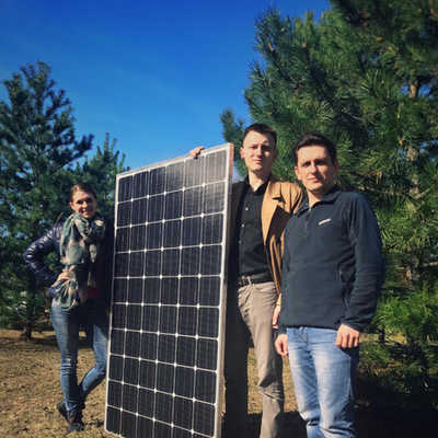 Self-made designed and produced solar panel