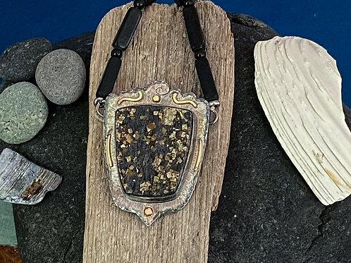 Pyrite Schist & Black Onyx Necklace