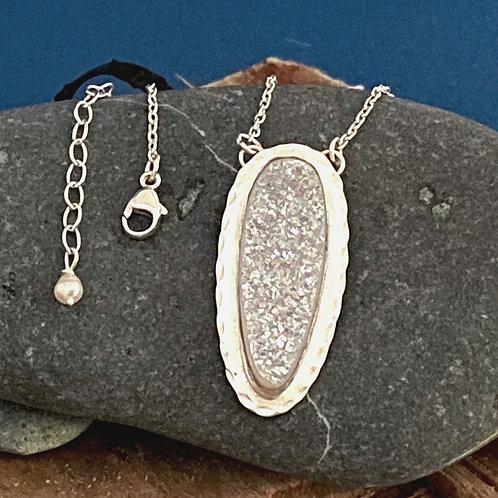 Twinkle Druse Drop - Necklace