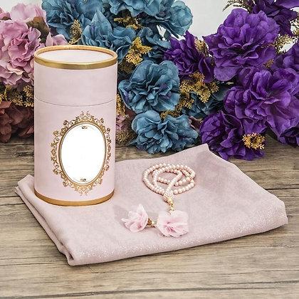 Prayer Mat & Tasbeeh Cylinder Gift Box