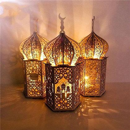 Ramdan Mubarak Wooden Lantern