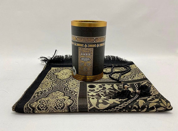 Prayer Mat & Tasbeeh Cylinder Kabaa Gift Box