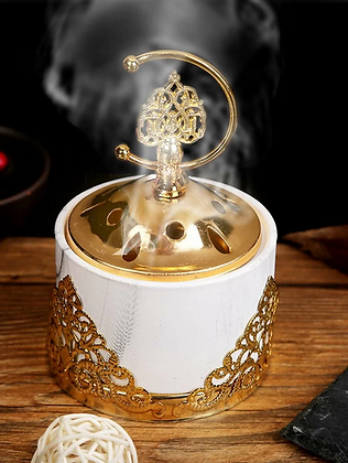 Ceramic Incense Burner With Lid