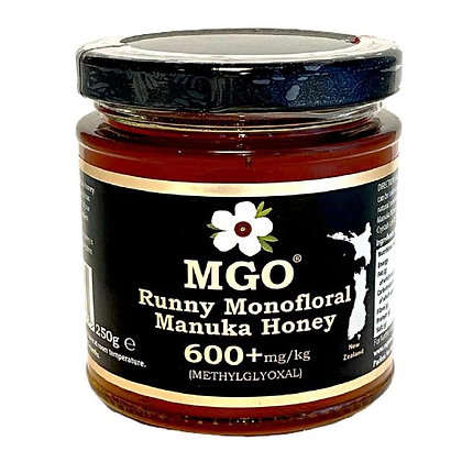 MGO Manuka Honey 600+mg/kg Methylglyoxal 250g