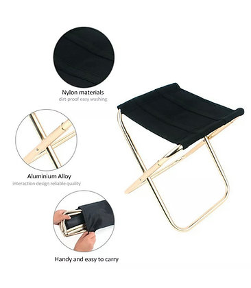 Portable  Folding Mini Chair Foldable Stool Seat Aluminum