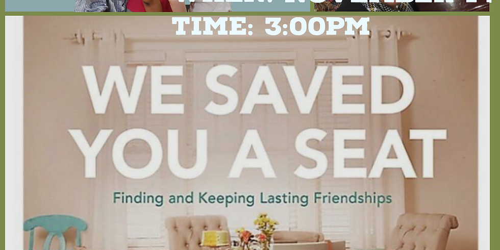We Saved You A Seat RoundTable Discussion and Fellowship