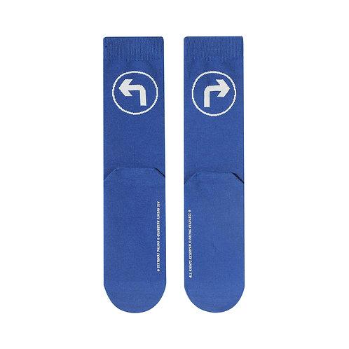 FF Socks: Turn (Blue)