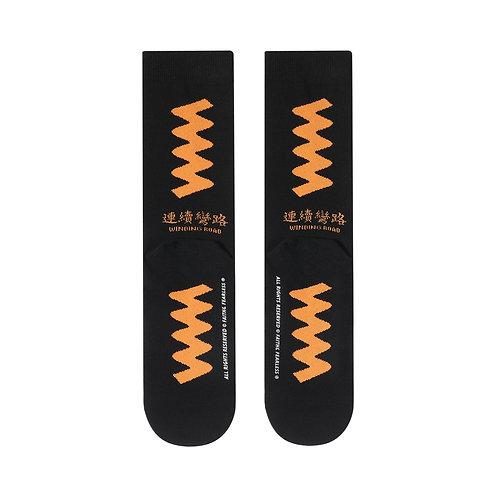 FF Socks: Winding Road (Black)