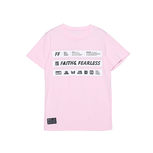 SILK-SCREEN STRAP TEE - PINK