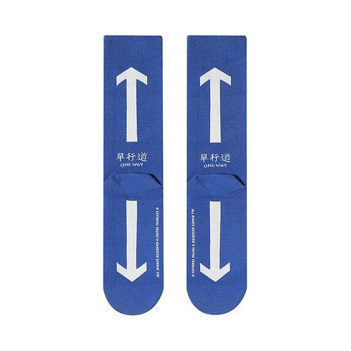 FF Socks: One Way (Blue)