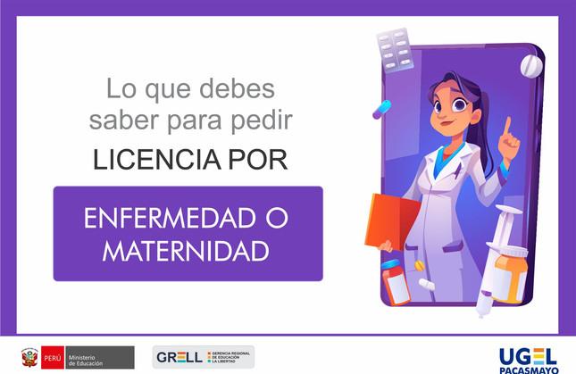 Licencia por enfermedad o maternidad