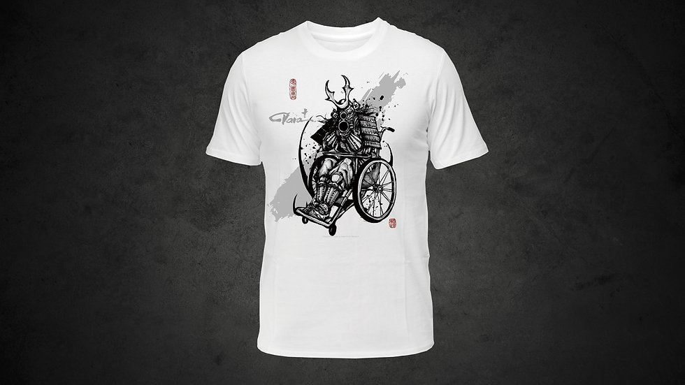 パラ武人画Tシャツ「射撃」