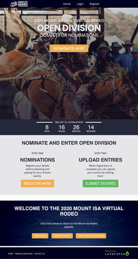 Mt Isa virtual rodeo competition
