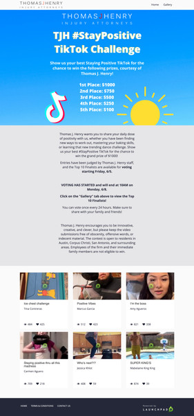 Tiktok video challenge