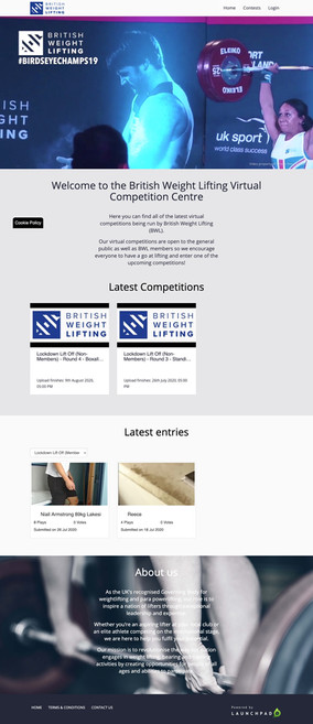 British Weightlifting online competition