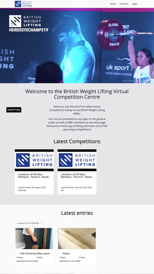 British Weight Lifting Virtual Competition Centre