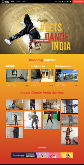 Let's Dance India video competition