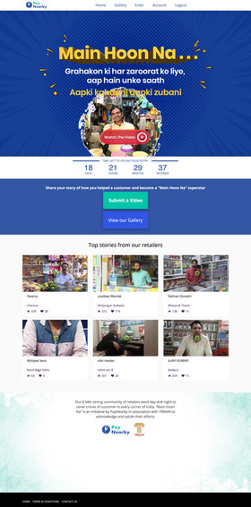 Pay Nearby Retailers stories compeition