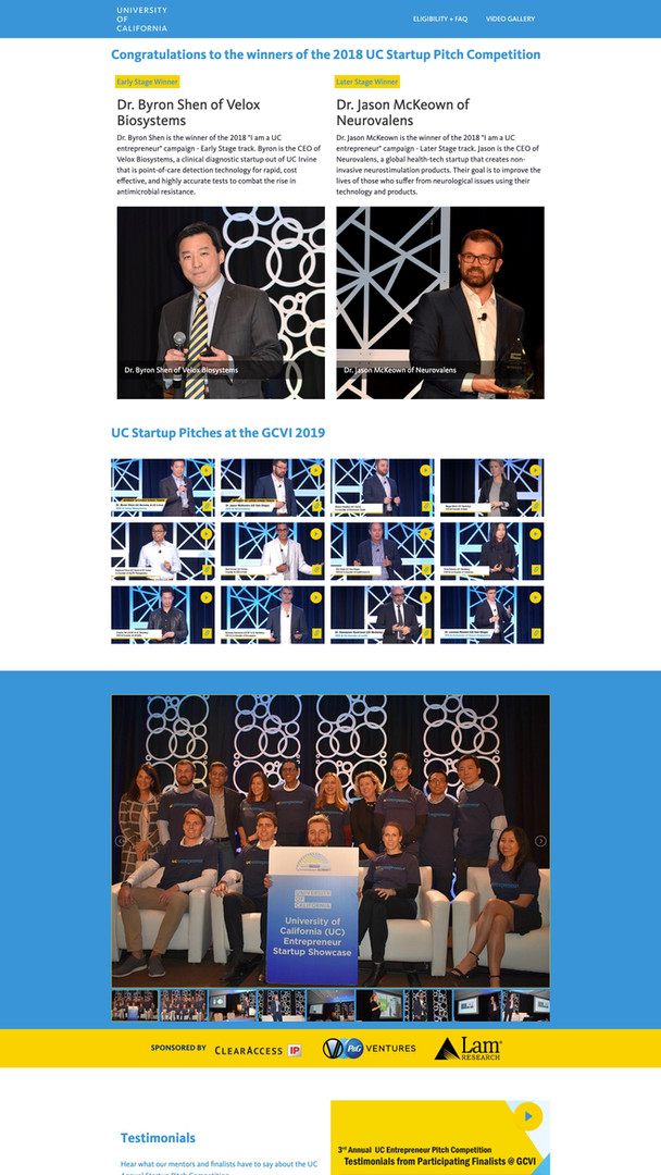 University of California Startup Pitch Competition