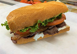 A picture of The Bomb sandwich.