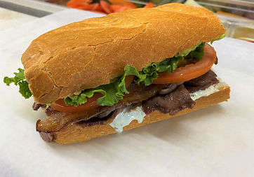A picture of our classic The Bomb sandwich.
