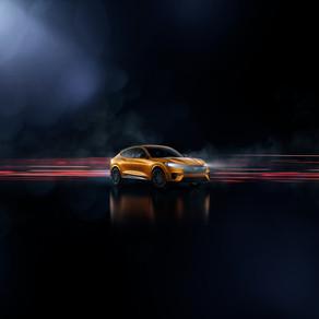 CYBER ORANGE 2021 Mustang Mach-E GT