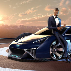 RSQ E-TRON. AUDI DESIGNS FIRST CONCEPT CAR FOR AN ANIMATED FILM.