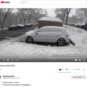 First Snow Winter 2017-YouTube