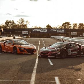 ROAD CAR VS. RACE CAR: ACURA PITS NSX SUPERCAR AGAINST RACING COUNTERPART, THE NSX GT3 EVO