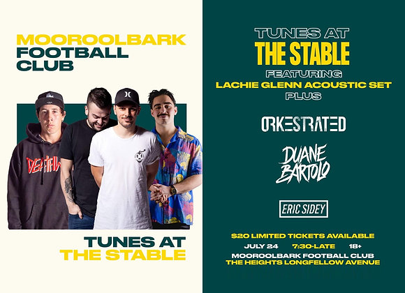 LIMITED TICKETS - MFC Tunes at the Stable