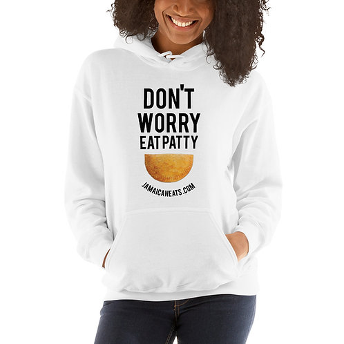 Don't Worry Eat Patty White Hoodie