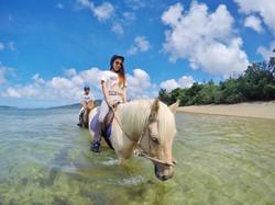 馬に乗ったまま海にも入れる!(3月~10月頃)