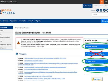 Accesso ai servizi online dell'Agenzia delle Entrate