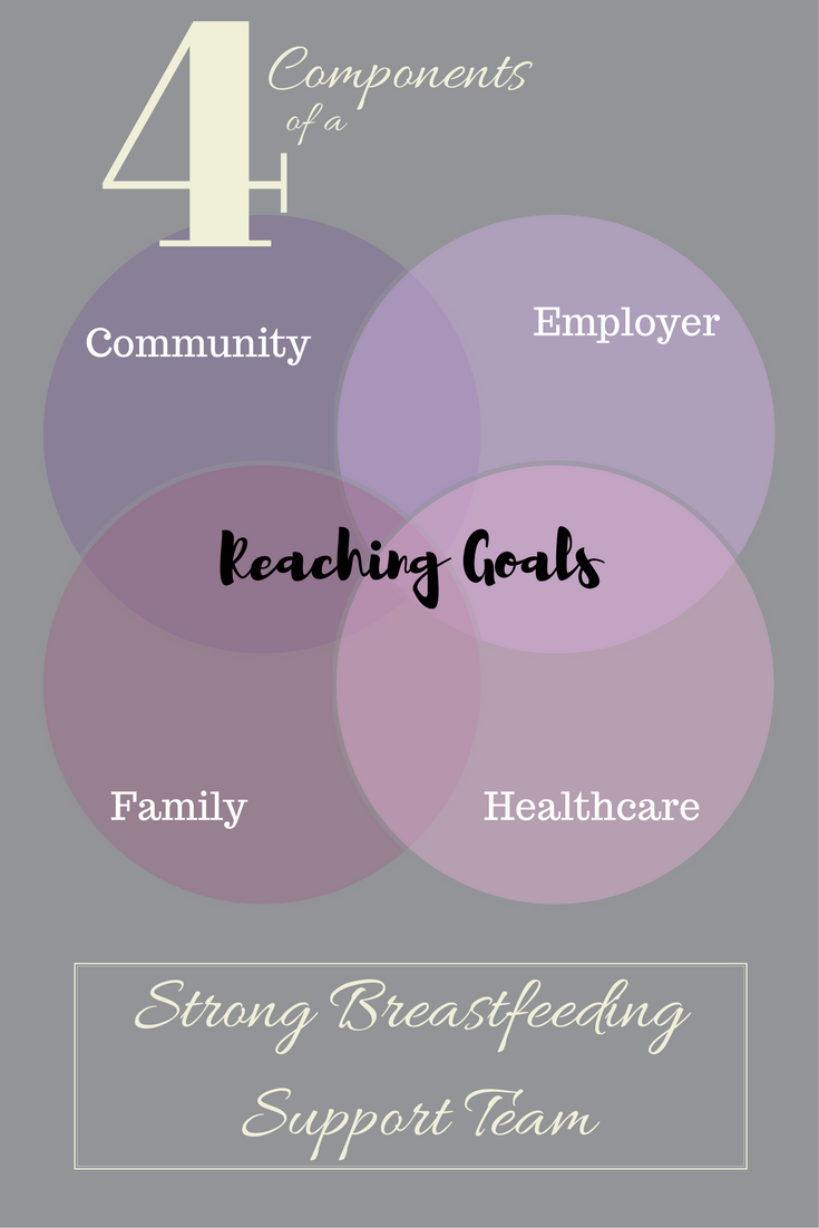 Breastfeeding support team community la leech league family employer breastfeeding goals