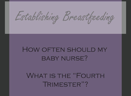 Establishing Breastfeeding: My two very different experiences