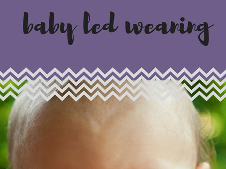 5 First Foods for Baby Led Weaning